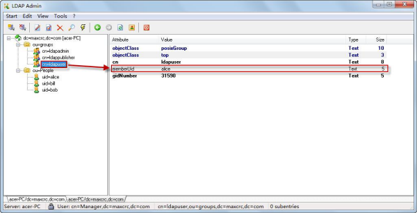 Integrating an existing account system by using LDAP